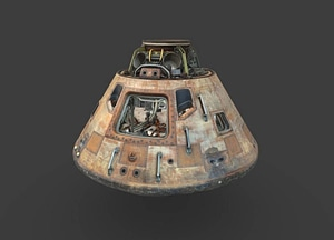 Apollo 11 Command Module Combined 3D Model