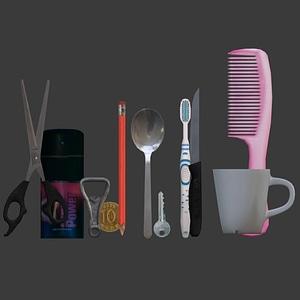 Set of Household Items 3D Model