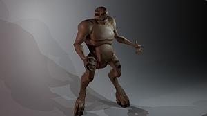 Hoofed Beast 3D Model