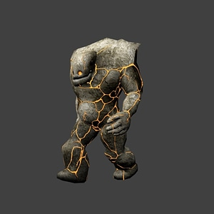 Lava Golem modelo 3D