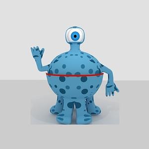 Monster Blue 3D Model