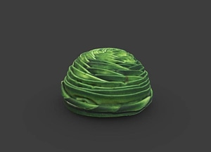 Green wrap hat made by Vanilla Beane 3D Model