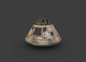 Apollo 11 Command Module Exterior 3D Model