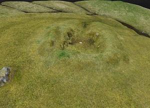 Bønhústoft ruins on Faroe Islands 3D Model
