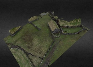 Heimi í Húsi farm on Faroe Islands 3D Model