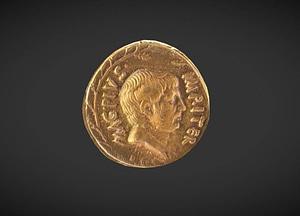 Aureus of Sextus Pompeius 3D Model