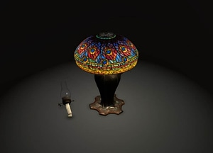 Peacock Table Lamp 3D Model