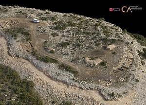 Tossal de La Vila near Castellón in Spain 3D-model