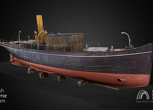 Steam Yacht Carola 3D Model