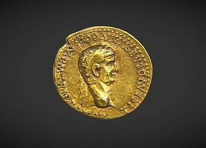 Aureus of Claudius 3D Model