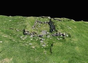 Bønhús Chapel on Faroe Islands 3D-model