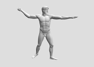Zeus or Poseidon from the Artemision 3D Model