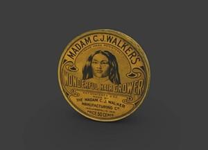 Tin for Madame C.J. Walker's Wonderful Hair Grow 3D Model