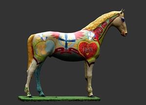 Hunt Museum - Horse Outside 3D Model