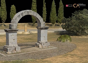 Arch of Cabanes near Castellón in Spain 3D-model