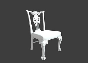 Old Chair from England 3D Model
