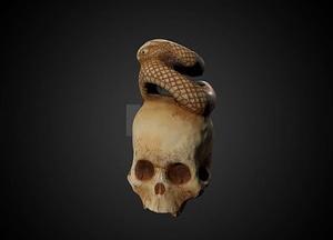Ivory skull netsuke 3D-malli