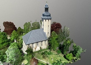 Friedenskirche Jena 3D Model