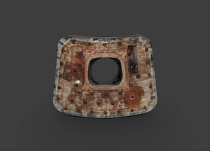 Apollo 11 Command Module Hatch 3D Model