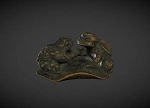 Kappa And Toad Netsuke 3D Model
