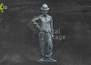 Statue of Charlie Chaplin in Waterville 3D-model