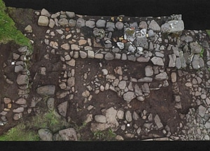 Bergstokk ruins on Koltur island 3D Model
