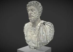 Buste cuirassé de Marc Aurèle âgé 3D Model