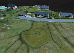 Bønhústoft og lendið ruins on Faroe Islands 3D Model