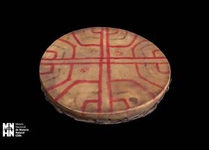 Machi ceremonial drum Kultrúng 3D Model
