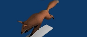 Modello 3D di Low Poly Fox
