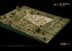 Sant Joaquím near Forcall of Castellón in Spain 3D-model