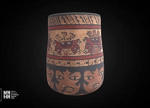 Nazca polychrome vessel 3D Model