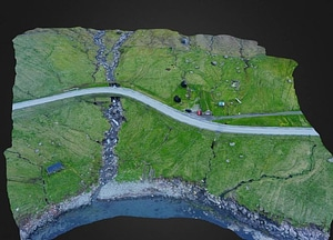 Depil village on Faroe Islands 3D Model