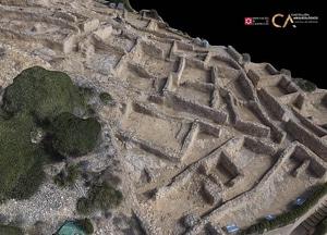Puig De La Nau near Benicarló of Castellón in Spain 3D-model