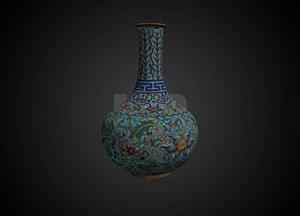 18th C Chinese cloisonne vase 3D Model