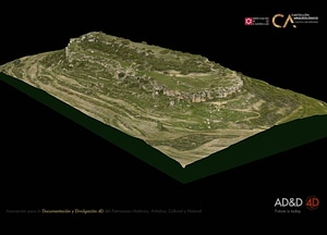 Moleta dels Flares near Forcall of Castellón in Spain 3D-model