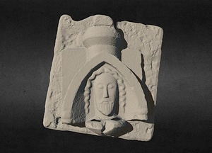Carved Head from Abbeyknockmoy 3D Model
