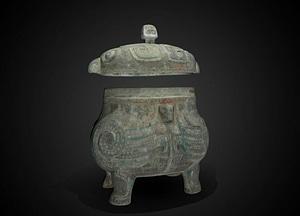 Double-owl wine vessel 3D Model