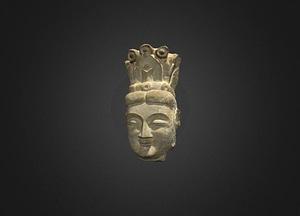Bodhisattva Head 3D-model