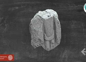 Wayside Tomb Stone 3D Model