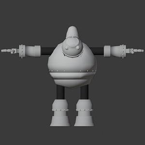 Bomber Bot 3D Model