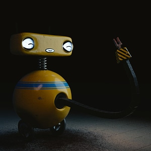Round Robot Rigged 3D Model