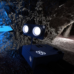 Small Robot Explorer 3D Model