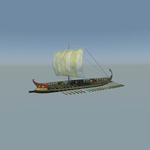 Ancient Greek Galley 3D Model