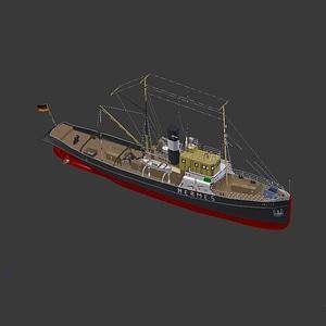 Hermes Boat 3D Model