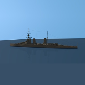 HMS Lion Battle-cruiser 3D Model