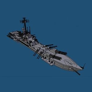 Missile Cruiser 3D Model