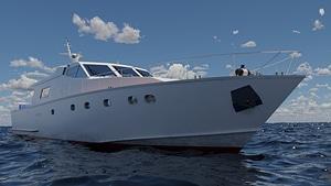 Motoryacht 3D Model