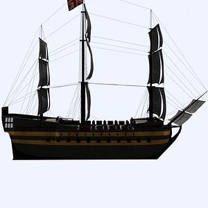 Tall Ship 3D Model