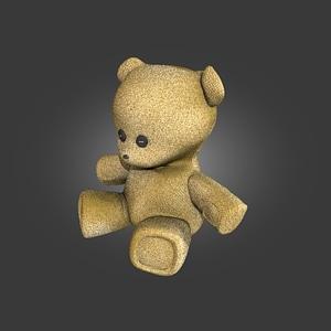 Burlap Bear 3D Model